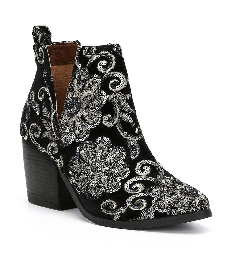 Shop for Naughty Monkey Seleni Velvet Floral Sequin Embellishment Block Heel Booties at Dillards.com. Visit Dillards.com to find clothing, accessories, shoes, cosmetics & more. The Style of Your Life.