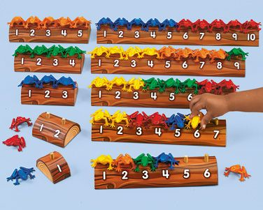 Thinking of getting this Frogs on a Log Counting Kit for my nephew. It's a great way to learn one-to-one correspondence. Just need to find out if he likes frogs.