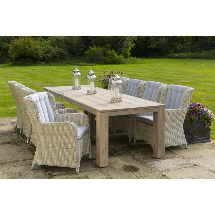 life king corona 6 seater dining set with cushions wayfair uk dining setsgarden furniturecushionscorona