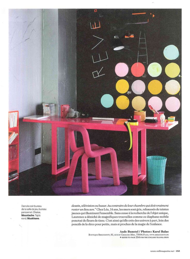 MILK magazine N°33 - Laurence Simoncini, Serendipity co-founder at home