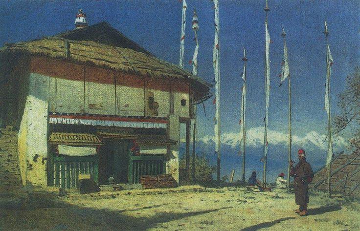 Буддийский храм в Дарджилинге. Сикким. Галерея Василия Верещагина. Картины, фото, фотография