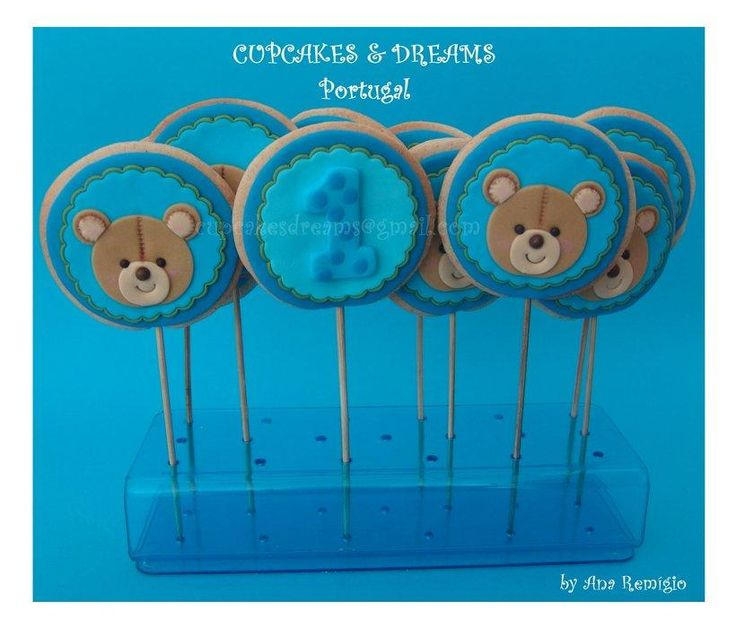 TEDDY BEAR COOKIES  - Cake by Ana Remígio - CUPCAKES & DREAMS Portugal