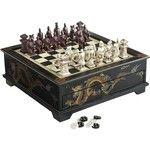 Pier 1 Imports Black Dragon Chess & Checker Set