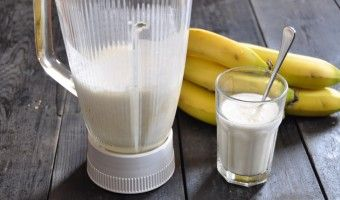 Banana smoothie: the perfect snack