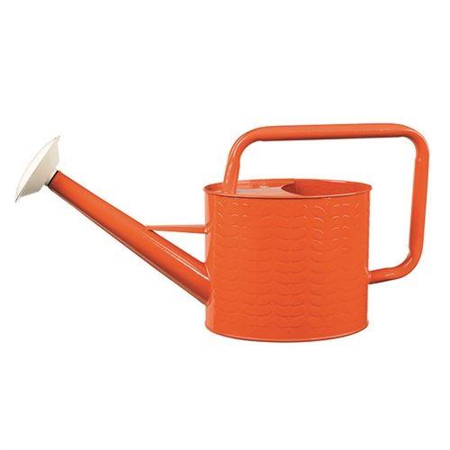 Orla Kiely Garden Watering Can Orange Linear Stem