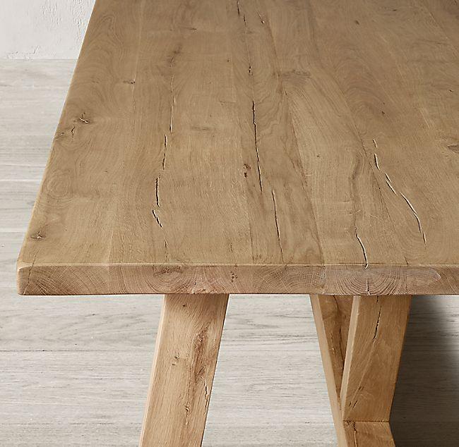 Reclaimed Russian Oak Farmhouse Dining Table Dining Table