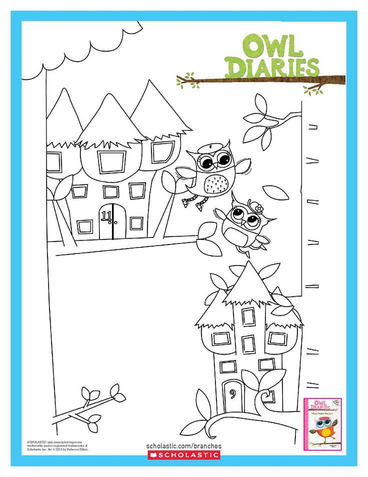 owl diaries coloring pages - photo#3