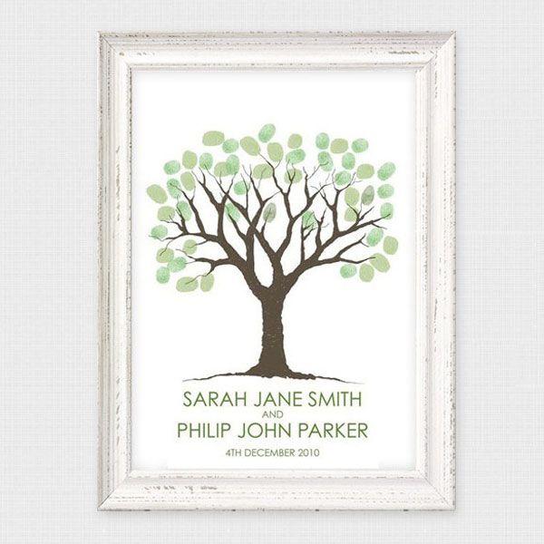 Wedding Guest Books Unique Book Ideas Fingerprint Tree
