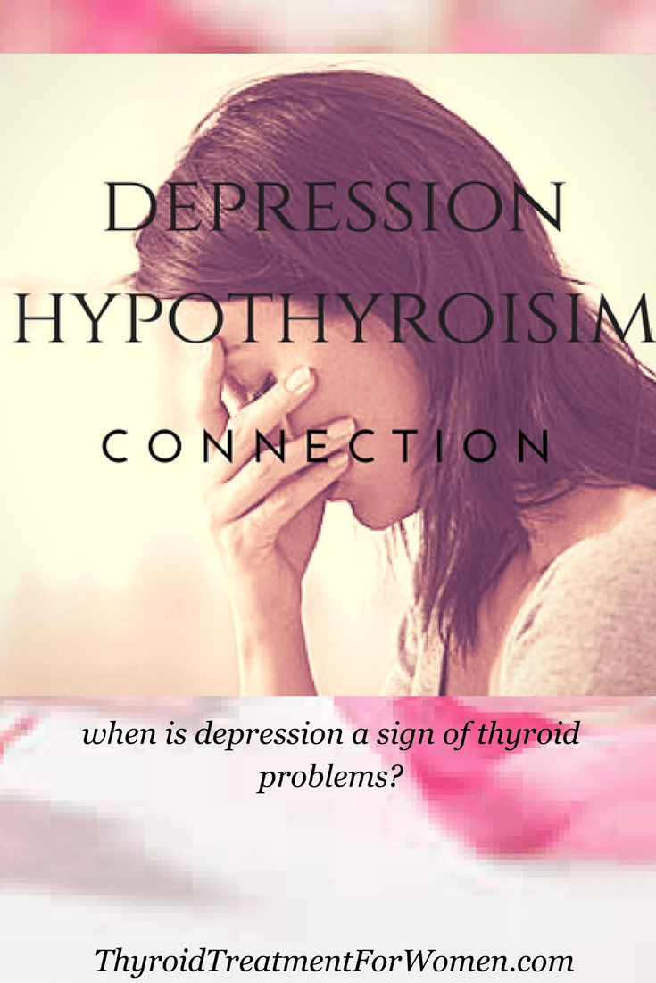 when is depression a sign of thyroid problems? The answer might surprise  you
