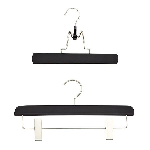 Black Soft Matte Trouser Clamp & Skirt Hanger