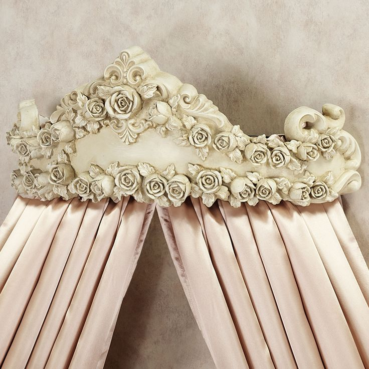 Victoria Rose Antique Ivory Wall Teester Bed Crown & 14 best Curtain Crown Canopy images on Pinterest   Bedrooms Bed ...
