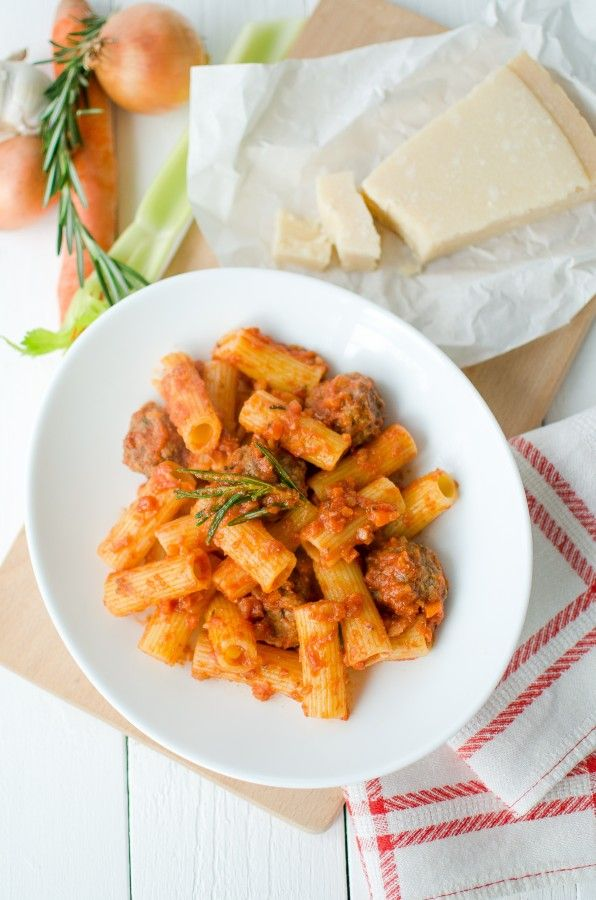 Ригатони с мясными шариками (Rigatoni con Polpettine) - Beautiful food | Красивая еда