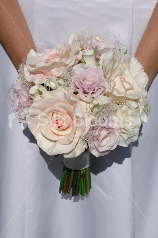 DARLA - BRIDE Vintage Real Touch Mixed Rose & Preserved Gypsophila Bouquet Click here to see it on our website:: http://www.silkblooms.co.uk/bridal-bouquets/vintage-real-touch-mixed-rose-preserved-gypsophila-bouquet-7801