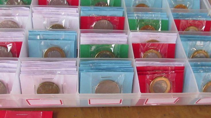Para colecionadores de moedas: Como envelopar armazenar e organizar suas moedas, moedas de todos os tamanhos. | Pinterest | Link