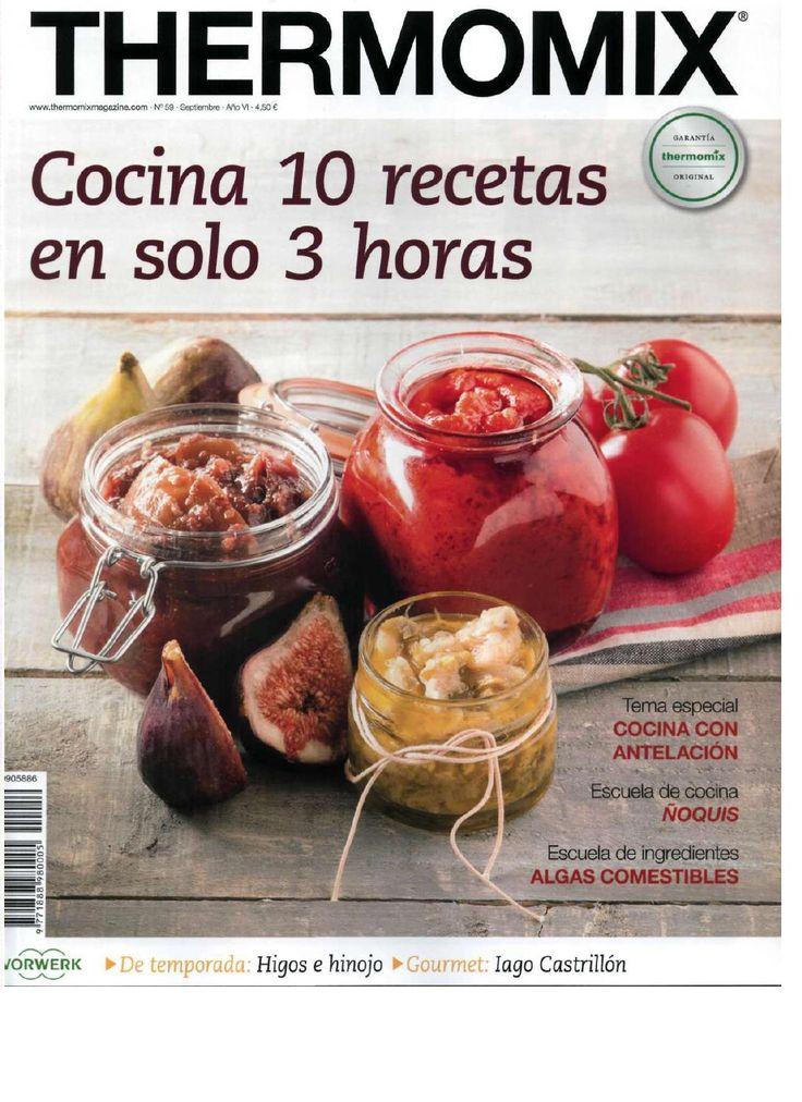 Rev. Thermomix nº 59. Cocina 10 recetas en solo 3 horas