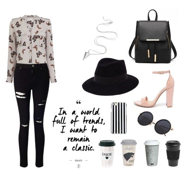 """Untitled #10"" by nastja-pessi on Polyvore featuring Oasis, Miss Selfridge, Steve Madden, Maison Michel, MICHAEL Michael Kors, Fitz and Floyd and Homage"