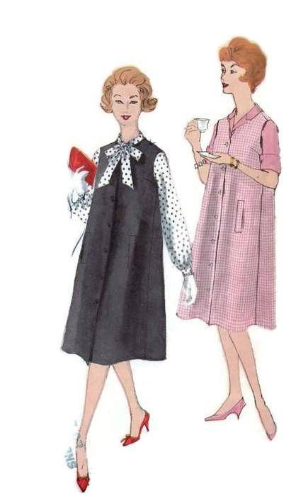 Vogue Sewing Pattern 9748 Maternity Jumper 1950s Tent Dress