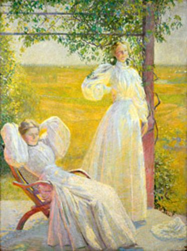 """""""The Top of the Morning,"""" Philip Leslie Hale, 1898, Oil, 39 x 28 3/4"""", private collection."""
