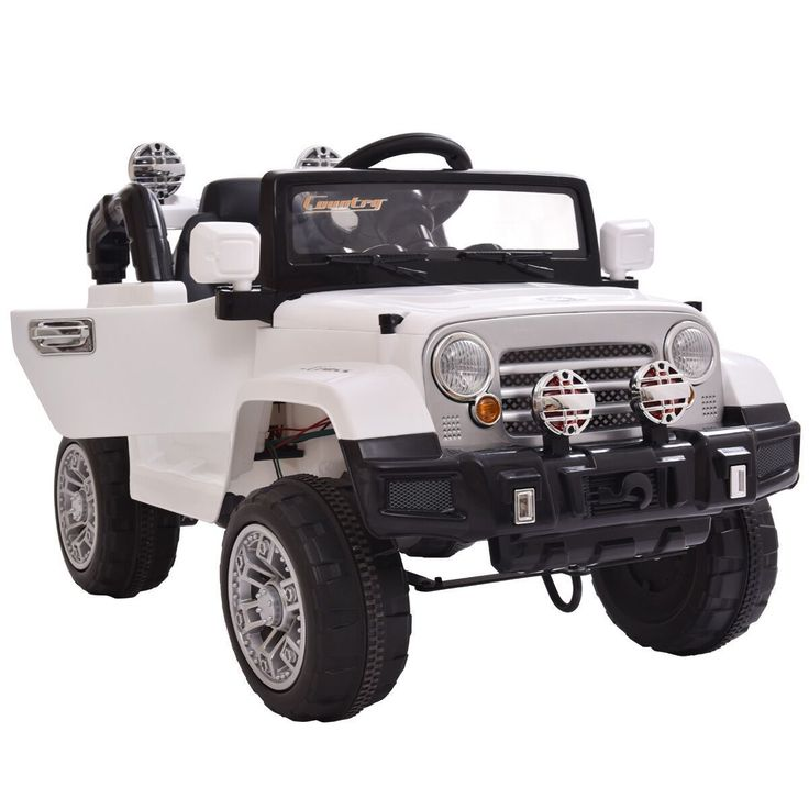 12v mp3 rc battery power wheels jeep car truck kids ride on w led lights