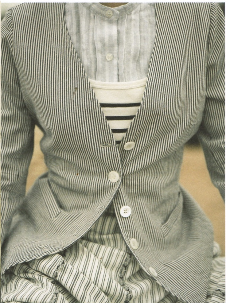 Mix: Fashion Patterns, Style, Stripes Clothing, Layered Clothing, Nygård Anna, Layered Outfits, Glamorous Chic Life, Patterns Mixed, Layered Stripes