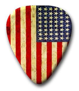 25 U.S. American Flag ~ Guitar Picks ~ Plectrums ~ Printed Both Sides