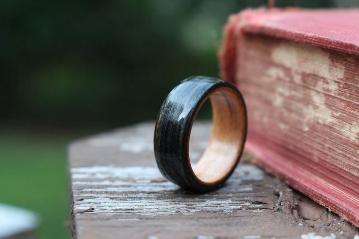 Weathered Whiskey Barrel and Black Cherry Wood Ring - Rustic and Main