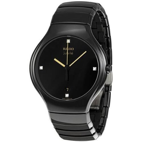 17 best images about watches of interest ceramics rado r27653752 40mm diamonds ceramic case black ceramic anti reflective sapphire men s watch