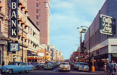 main street #Stockton #California 1950s...a little before my time there..