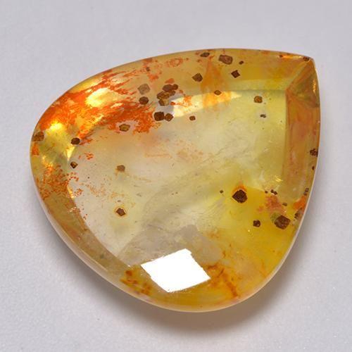14mm x 10mm Natural Amber Oval Cabochon Gem Gemstone