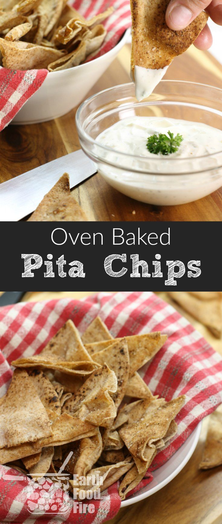 Homemade pita chips are an easy and healthy snack…