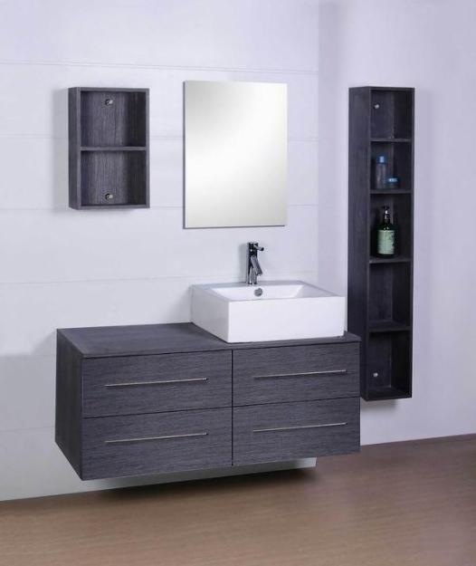 M s de 25 ideas incre bles sobre gabinetes de ba o gris en - Encimera de pizarra ...