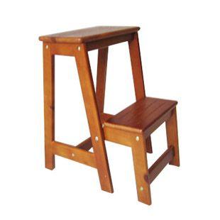 Dos multi-función taburete plegable taburete escalera de madera ...