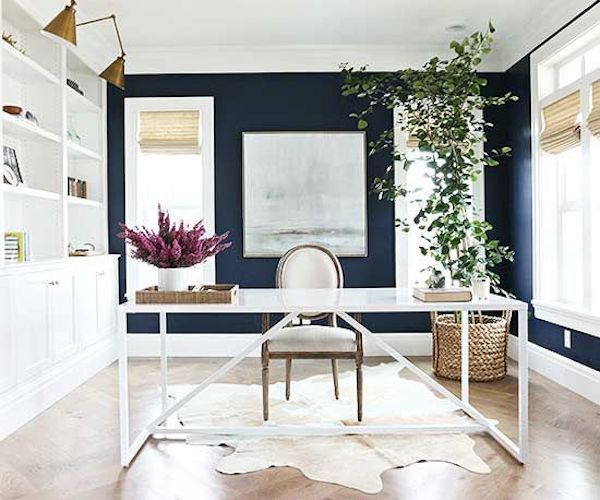 Inspired By Greenery Amp Plants In Decor Navy Office Desks And Office Spaces