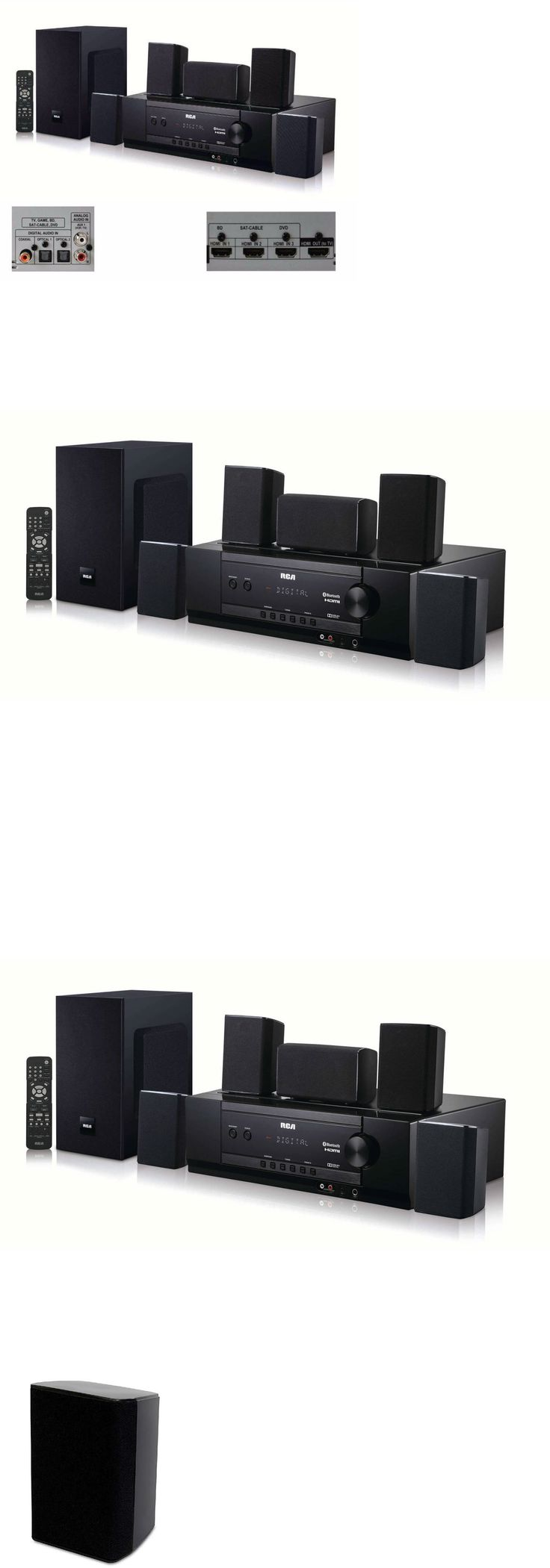 Home Theater Systems: Bluetooth Home Theater System 1000W Surround Sound Speakers Dolby Digital 5.1 -> BUY IT NOW ONLY: $204.99 on eBay!