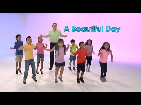 A Beautiful Day is a good morning song celebrating the start of a new day. Children sing the chorus together with me, raise their arms up, hold hands and sway with friends as they sing about so many beautiful things all around. It's my favorite and most requested good morning song. Both children and teachers love it's uplifting spirit and rhythm. The main portion of this good morning song is a repeat after me pattern.
