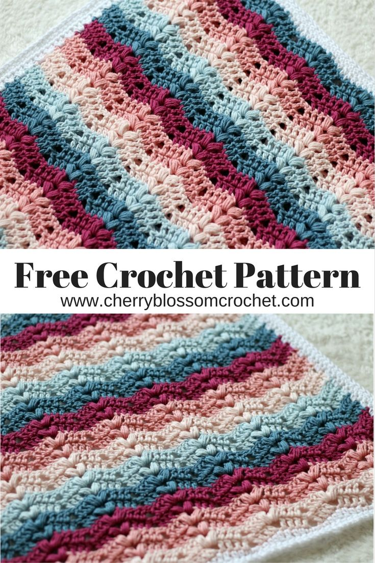 I am so excited to be releasing this brand new pattern for you today, this is a beautiful crochet ripple blanket with bobbles which is pe...