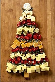 veggie and Cheese Christmas tray