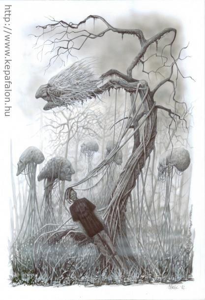 Mazán Mihály - A segítség című festménye