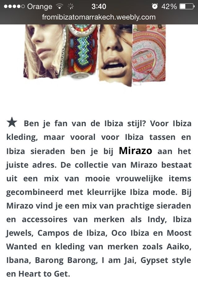 A beautiful comment talking about the Online Shop Mirazo who sells our Bracelets.   Thank You!