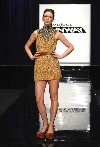 birdseed dress from Project Runway's Anthony Ryan!