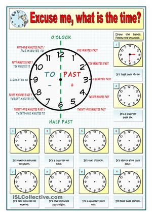 As I'm going to start with my young weak learners the use of the Present Simple and the routines, I'm going to revise first how to ask the time. Key includedPart 2 here: https://en.islcollective.com/resources/printables/worksheets_doc_docx/excuse_me_what_is_the_time_-_part_2/time/94285 - ESL worksheets