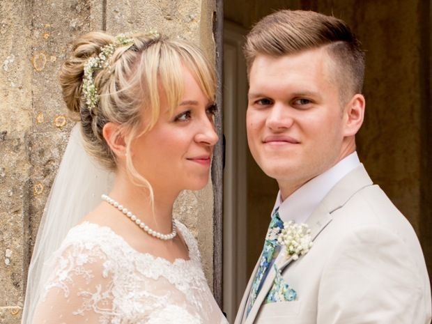 Emily Wheeler and Luke Slepertas tied the knot at The Great Tythe Barn in #Tetbury. Image © Kelly Weech Photography. #realwedding #cotswolds