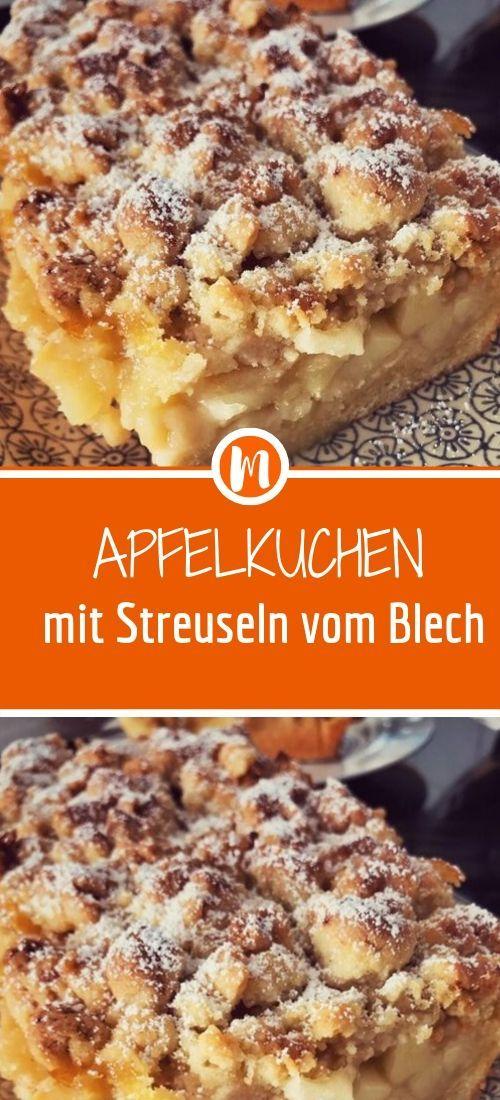 Apfelkuchen mit Streuseln vom Blech – Einfach Lecker