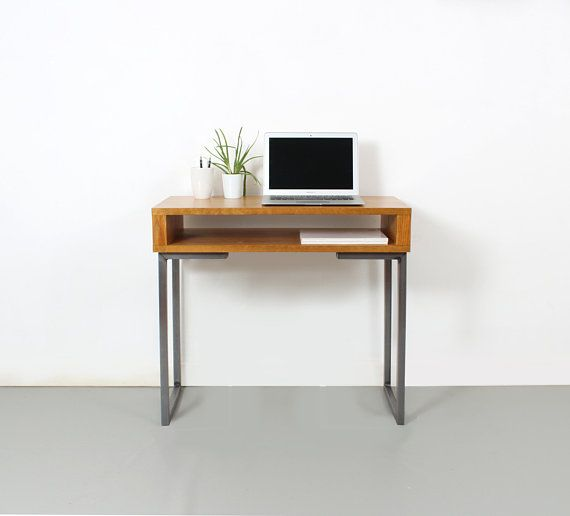 This Design Is A Minimalist Solid Wood Desk Height Table Ideal For A Compact Home Office As A Laptop Small Writing Desk Small Minimalist Desk Minimalist Desk