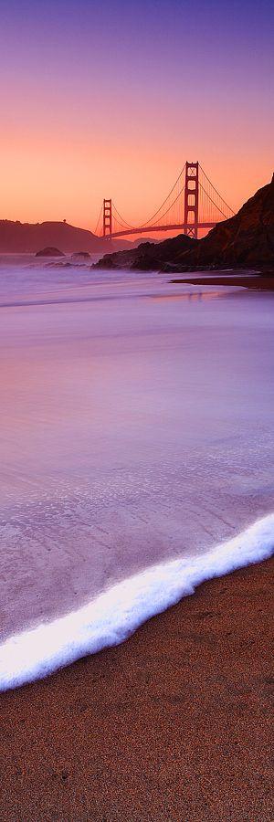 Puedes sentir los pies en la arena :) San Francisco - Golden Gate Bridge #Atardecer #Viajes