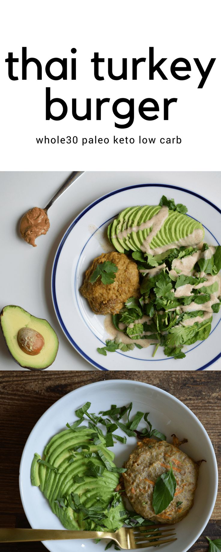 Delicious Nut Butter Thai Inspired Turkey Burger (Whole30, Paleo, Keto)