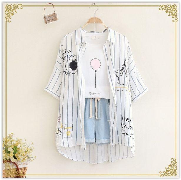 Fairyland - Short-Sleeve Striped Shirt