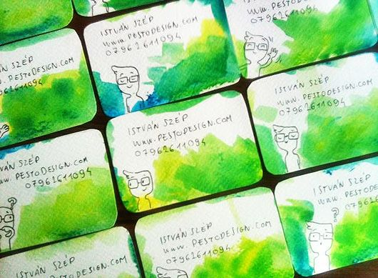 10 images about homemade business cards on pinterest for How to make homemade business cards