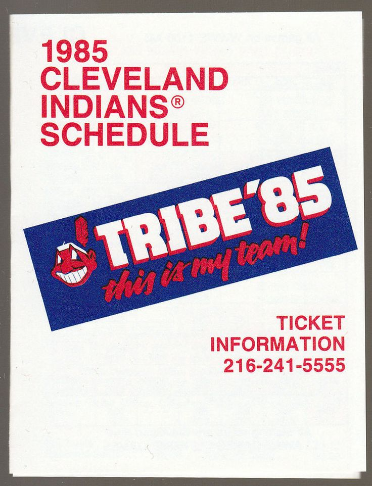 1985 CLEVELAND INDIANS HUNTINGTON BANKS BASEBALL POCKET SCHEDULE FREE SHIPPING #Schedule