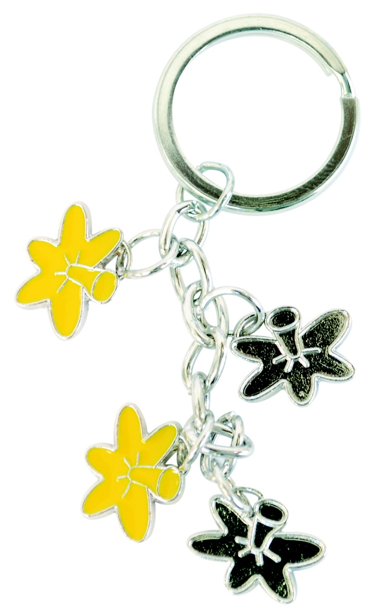 Daffodil keyring